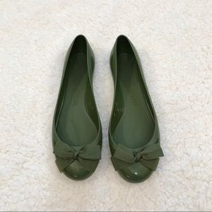 J. Crew jelly ballet flats with bow